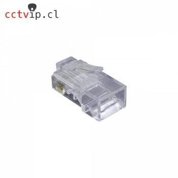 Bolsa 100 Conectores CAT6 Unifilar RJ45 RJ6-U